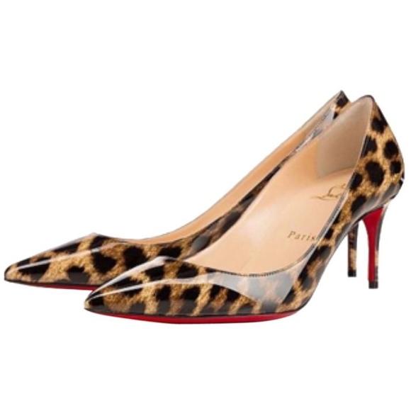 best sneakers ddfdd 606d6 New Christian Louboutin Decollete Leopard Pumps 40 NWT